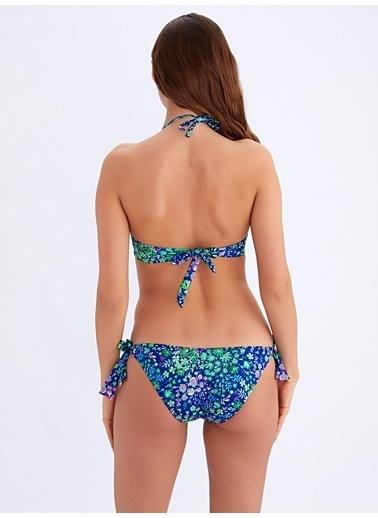 Ayyıldız Dolgulu Bikini Takımı Saks